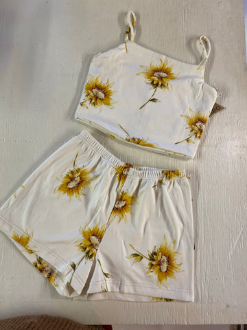 Meadow Ribbed PJ Sets - Sunflower