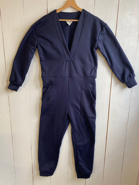 Rae Fleeced Coveralls- Navy