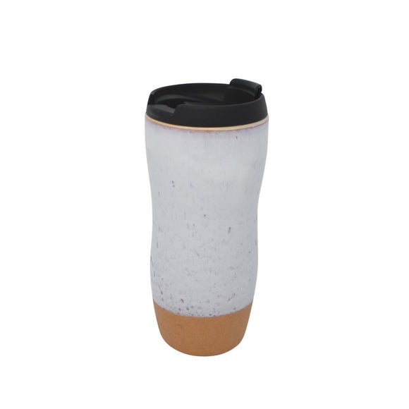 Pottery Style Travel Mug Tall - Latte