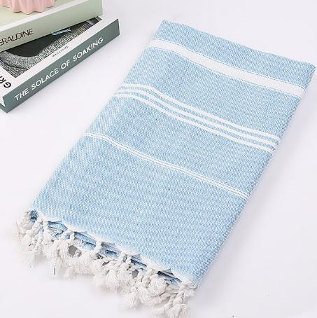 Tripe Stripe Towel Blue