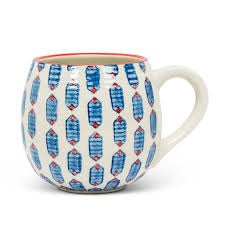Blue Hexagon Ball Mug