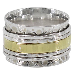 Sterling Silver & Brass Meditation Ring