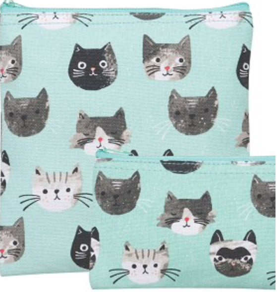 Cats Meow - Snack Bags - Set Of Two