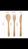Bamboo Portable Cutlery Set