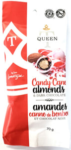 Candy Cane Almonds with Dark Chocolate