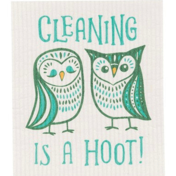Swedish Dish Cloth Cleaning is a Hoot