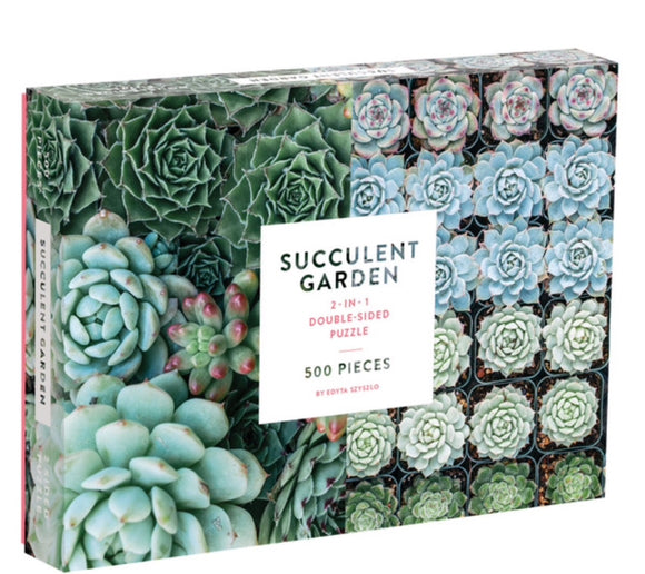 Succulent Garden 2 in 1 Double Sided 500pc Puzzle