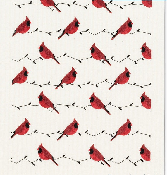 Swedish Cloth - Cardinals