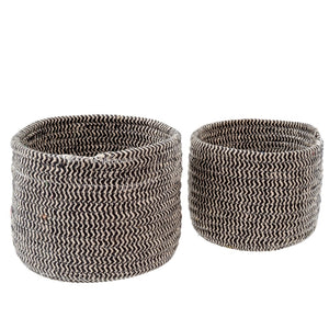 Bakers Twine Basket Round - Charcoal