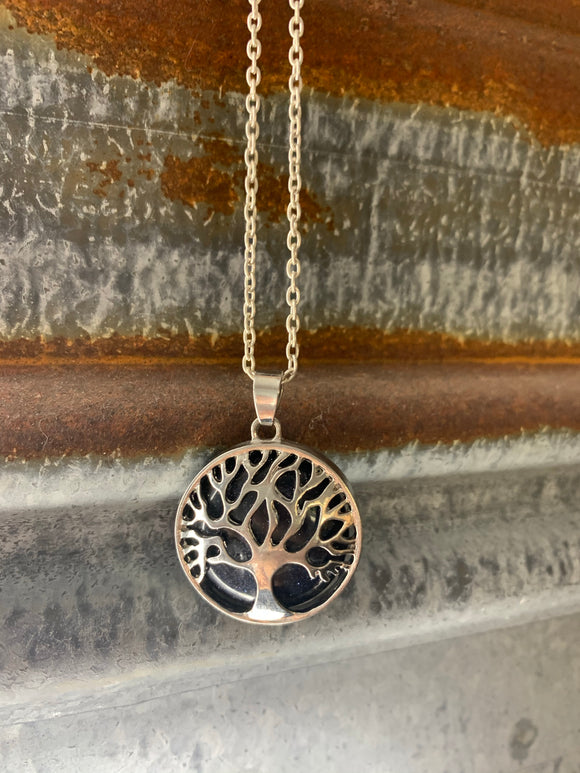 Tree of Life Necklace - Black