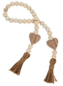 Heart Blessing Beads - Natural