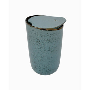 Pottery Style Travel Mug - Sage