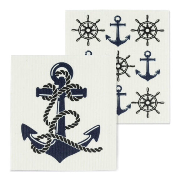 Anchor Design Swedish Dish Cloth