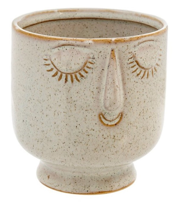 Friendly Face Pot - Small - Dune