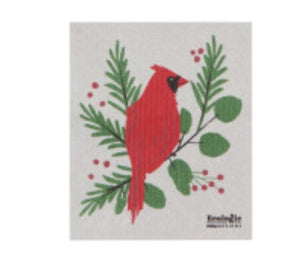 Forest Cardinal Swedish Dish Cloth.