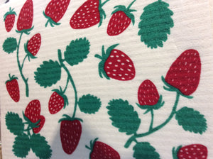 Swedish Dish Cloth Strawberries