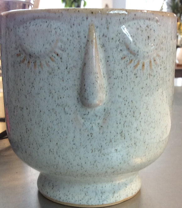 Friendly Face Pot - Large - Dune