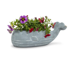 Small Low Whale Planter