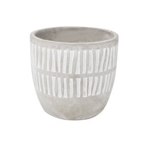Stripe Pot - Grey Concrete