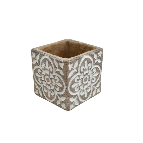 Art Deco Pot - White S