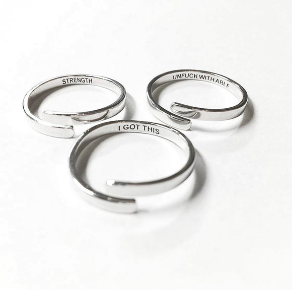 Inner Voice Sterling Silver Rings