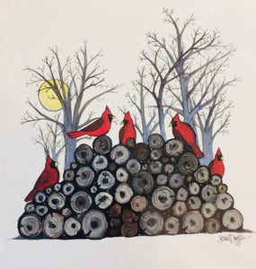 Sarah Duggan Creative Works Prints - Red Cardinal