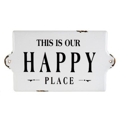 This Is Our Happy Place — Large Enamel Sign