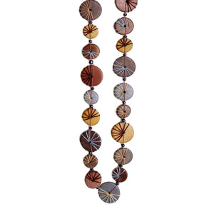 Button Long Necklace Assorted