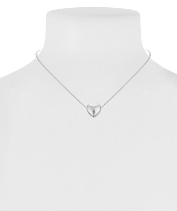 Little Heart Pendant Necklace - Silver