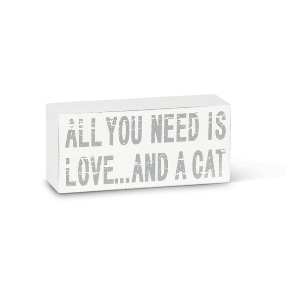 Love and a Cat Block