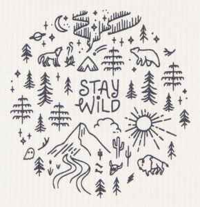 Swedish Dish Cloth Stay Wild