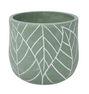 Leaf Pot L - Green