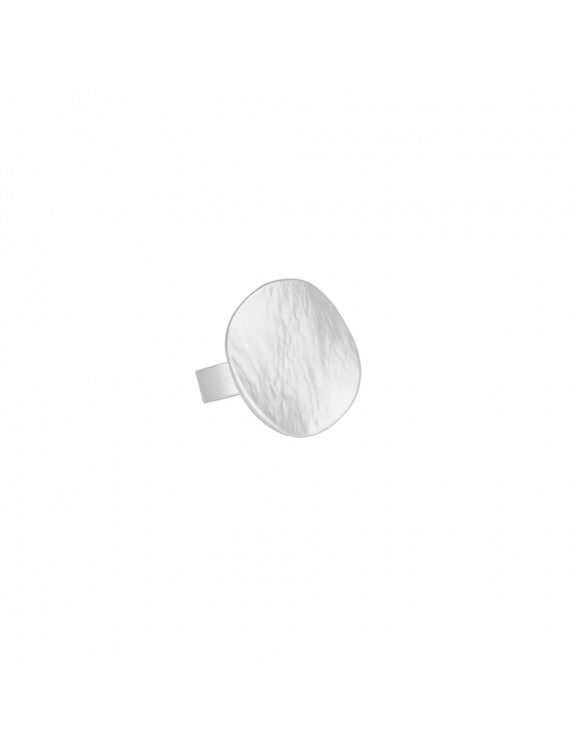 Silver Matte Textured Ring — 4103–SLV