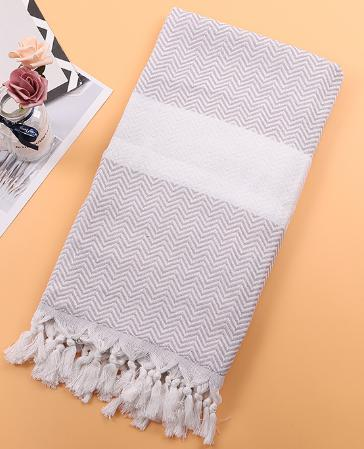 Large Stripe Towel Sand