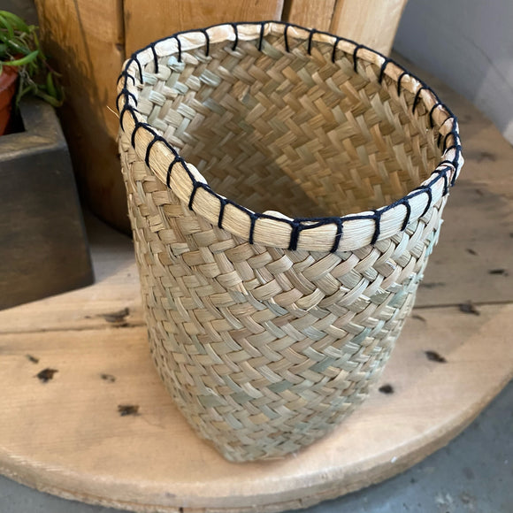 Blanket Stitch Tall Basket