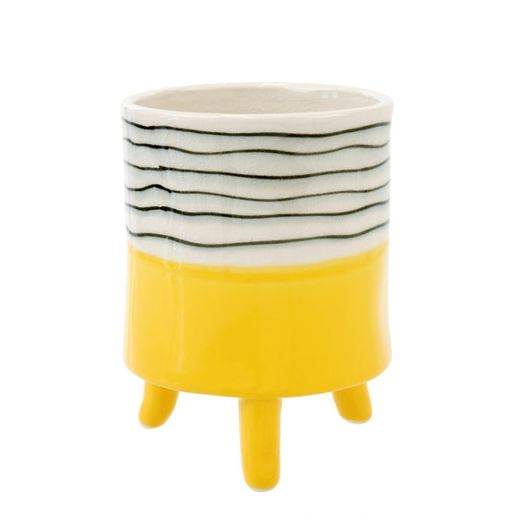 Footed Pot Yellow