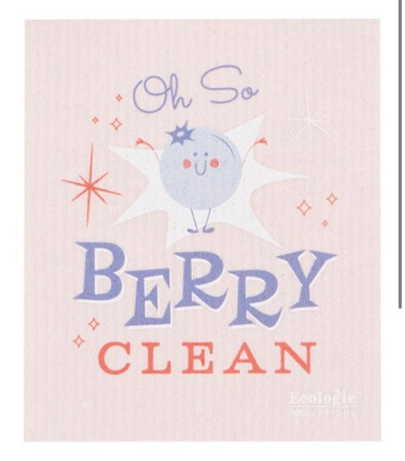 Swedish Dish Cloth - Oh So Berry Clean