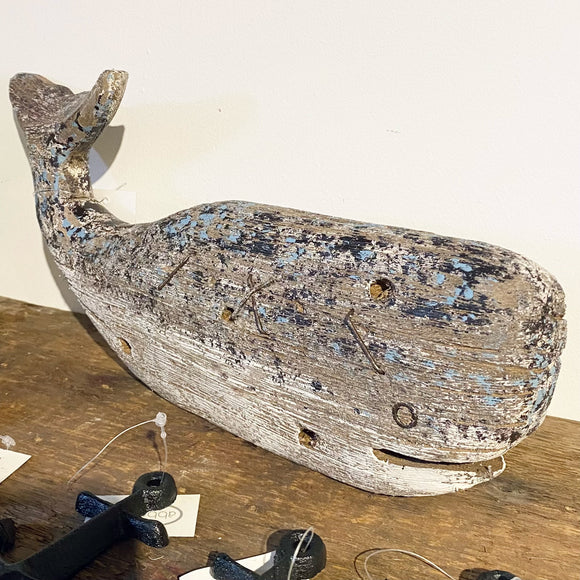 Rustic Wooden Whale