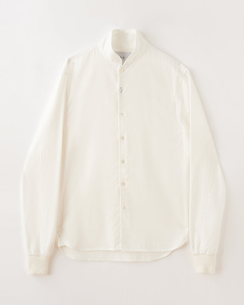 Polar White Shawl Collar Casual Shirt in Ultra-Soft Cotton