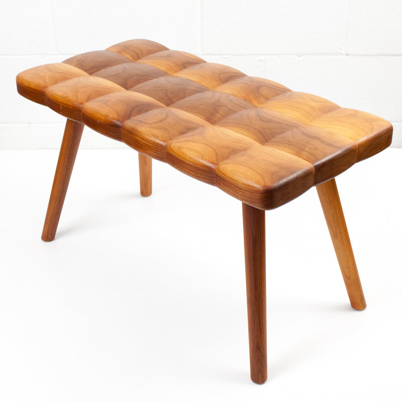 Joy Charbonneau Derek McLeod Tufted Wood Bench Caviar20