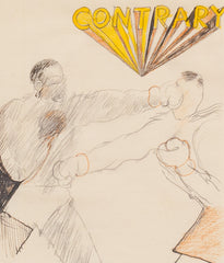 "GREG CURNOE ""BOXERS"" DRAWING"