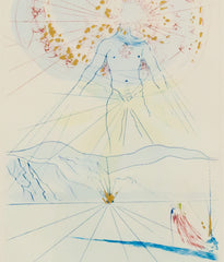 "SALVADOR DALI ""BRIDEGROOM LEAPS UPON THE MOUNTAINS"" 1971"