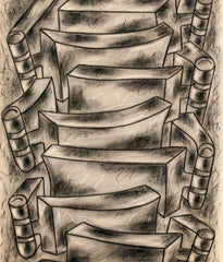 "SOREL ETROG ""HINGESCAPE DRAWING"" 1975"