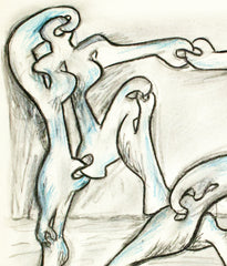 "SOREL ETROG ""DANCERS"" DRAWING"