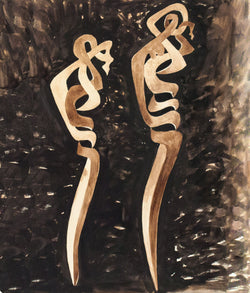 Sorel Etrog drawing watercolor gouache Caviar20