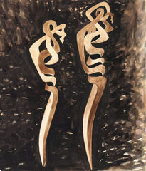 "SOREL ETROG ""TWO FIGURES"" GOUACHE"