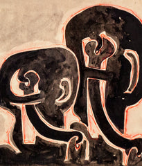 "SOREL ETROG ""KEY HEAD COUPLE "" DRAWING, 1967"