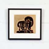 "SOREL ETROG ""LINK HEAD COUPLE "" DRAWING, 1967"