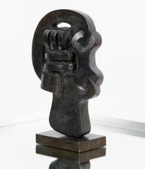 "SOREL ETROG ""KEY HEAD IV"" BRONZE, 1967"
