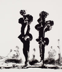 "SOREL ETROG ""TWO CALLIGRAPHIC FIGURES"" 1969/1998"